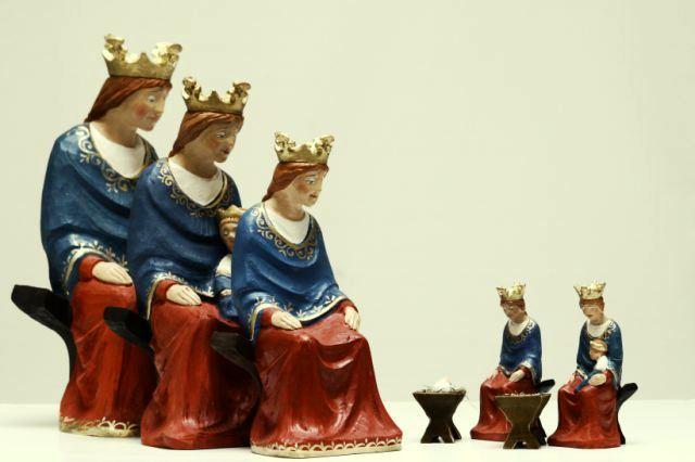 ... Nativity Scene, Hand carved Christmas Manger, Nordic Nativity Set